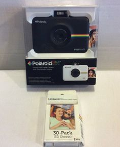 01caaa26e4250 Polaroid Snap Touch Instant Digital Camera w  Touchscreen Black w 30 Pack  Paper