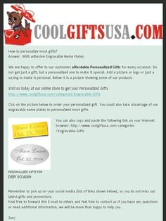 How to personalize most gifts