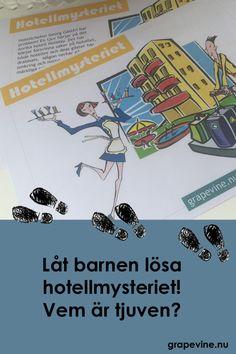 Låt barnen lösa hotellmysteriet - färdig skattjakt med gåtor och utmaningar! Kan barnen lista ut vem tjuven är?  #barnkalas #kalas #detektivkalas #deckarkalas #mysterium #mysteriekalas #mysterium #barn #detektiv #deckare
