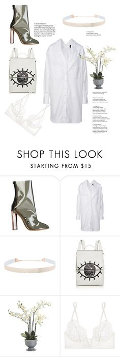 """""""white on white"""" by wine-is-bae ❤ liked on Polyvore featuring Yeezy by Kanye West, Eloquii, Kendall + Kylie, Pier 1 Imports and La Perla"""