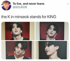 Its not kim minseok its king minseok Exo Ot12, Exo Xiumin, Exo K, Chanbaek, Shinee, Jonghyun, Exo Facts, Xiuchen, Kim Min Seok