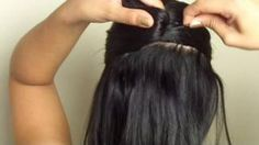 """Ever since watching this I have applied this technique. It worked to put my ridiculously thick hair in a bun using only 4 pins. We use to count how many we're in my hair after that type of """"do"""""""