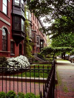 Brownstones in Boston by Austin '81
