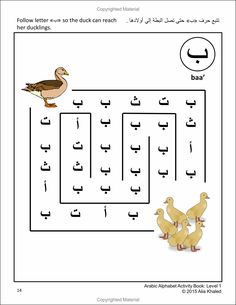 Learn Arabic! Have Fun! - Arabic Alphabet Activity Book: Level 1 (Colored Edition) By Alia Khaled - Get Your Copy Now $24.95 - Also available at Amazon.com