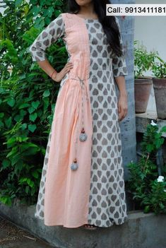 Kurtis has become a very integral outfit it Indian fashion industry. From parties to casual wear for your work every day, Kurtis has become a big fashion s Simple Kurti Designs, Kurta Designs, Dress Designs, Blouse Designs, Kurti Patterns, Dress Patterns, Indian Designer Outfits, Designer Dresses, Designer Kurtis
