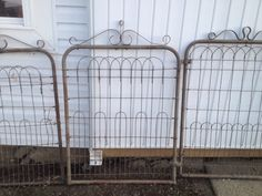 Lot of 7 Antique Woven Wire Garden Gates | eBay