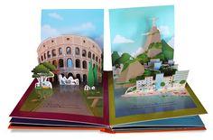 New pop-up book: 10 ciutats i 1 somni Arte Pop Up, Pop Up Art, Geography Activities, Activities For Kids, Libros Pop-up, Up Book, 3d Prints, Paper Models, Kirigami