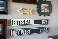 Create your own custom mileage signs for home decor.
