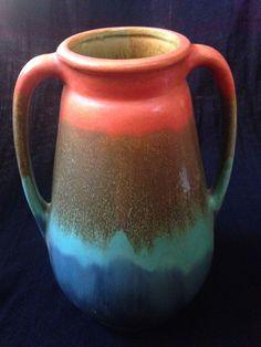 Stangl Rainbow Sunburst Handled Vase