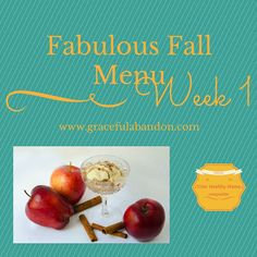 Here is a fall inspired menu plan for the week that is for the trim healthy mama and her entire family. Healthy, delicious, frugal, simple, and fabulous!