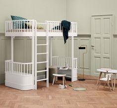 Oliver Furniture Wood hoogslaper Loft bed wit 90x200cm
