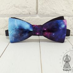 Bow Tie Space 3 Bowtie space pattern Blue bow tie от BowTieYAKUT
