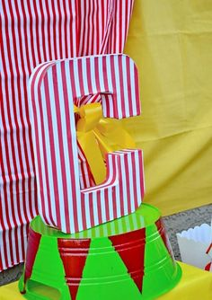 CIRCUS Party - INITIAL - Circus Birthday Party - Carnival - Boy Girl Party - Boys Girls Party- Circus Decoration - P.S. Kreative Kreations