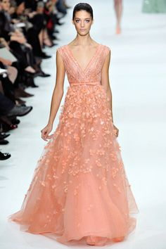 elie saab spring couture 2013 - brides of adelaide magazine - coloured wedding dress -  pastel