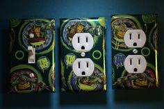 TMNT Teenage Mutant Ninja Turtles Light Switch Covers boys room decor comic book…