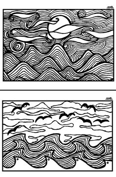 Download and print these free printable adult coloring pages! The magnificent sunset landscape scenes are complex but not overly so, and so much fun for adults to color.