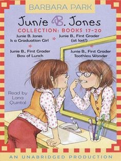 Junie B. Jones Collection, Books 17-20., audio book available for download with your Wake County Public Library card... many more titles in this series are available at F PAR at the LMES Media Center and J Park at the public library.