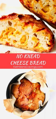 Easy No-Knead Cheese Bread uses an amazing dutch oven method that requires just 5 ingredients and less then 10 minutes of prep. You'll want to make this dutch oven bread every week! Nothing better than cheesy bread. Recipe at KathleensCravings… Dutch Oven Bread, Dutch Oven Cooking, Dutch Oven Recipes, Cooking Recipes, Dutch Oven Soup Recipe, Cheesy Bread Recipe, Knead Bread Recipe, No Knead Bread, Rye Bread