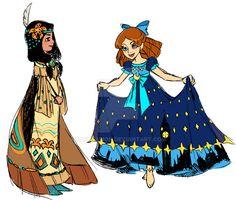 Wendy and Tigerlily by Sakuyamon