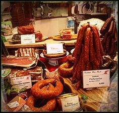 Sausages...sausage shop in Munich