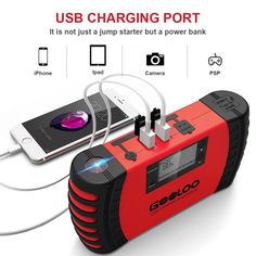 2d3fe39782 Amazon.com  GOOLOO 800A Peak 18000mAh 12V Car Jump Starter (Up to 7.0