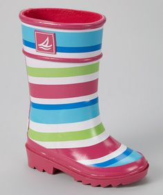 Look what I found on #zulily! Pink & Blue Stripe Pelican Rain Boot by Sperry Top-Sider #zulilyfinds