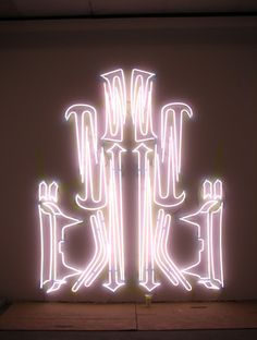 Loving these big neon outlines of super car go-faster graphics by Blair Thurman