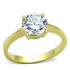 Sarah's Stainless Steel AAA Grade Cubic Zirconia Ring