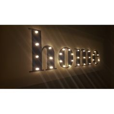Home light up LED text on canvas.