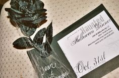 A Well-Crafted Party: Real Party: Haunted Halloween Dinner Party Adult Halloween Party, Halloween Dinner, Halloween Boo, Halloween Crafts, Halloween Decorations, Haunted Halloween, Halloween Ideas, Halloween Invitations, Samhain