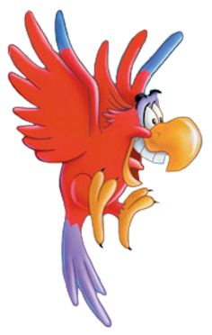 Images of Iago from the Aladdin series.