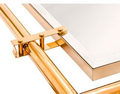 Metal to glass. Beautiful joinery.