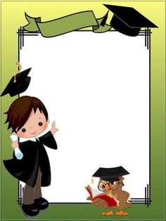 Foto de Грамоти - Google Fotos Graduation Clip Art, Graduation Images, Kindergarten Graduation, Graduation Party Decor, Graduation Cards, Graduation Invitations, Graduation Ideas, Boarder Designs, Page Borders Design