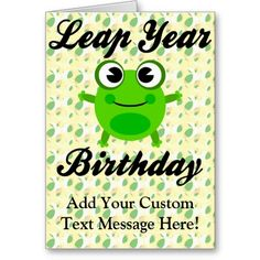 Leap Year Birthday, Cute Frog Cards