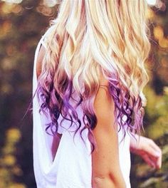purple dip dyed ends