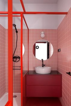 Les 13 meilleures images de Salle de Bains ROUGE | Bathroom ...