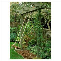 Childs swing in garden in Tennant garden, London