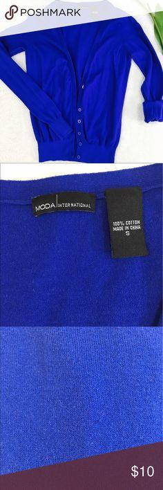 MODA navy blue cardigan •Navy blue cardigan  •Size: S •Condition: perfect Moda International Sweaters Cardigans