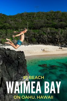 Waimea Bay Beach has amazing snorkeling, rock jumping, underwater tunnels, sea turtles, rock climbing and prime sunsets.