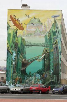 Lyon, France, world's best street art, urban art, graffiti artists, street artists, free walls, wall murals.