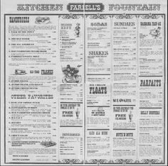 Newspaper menu idea. like (but on real newsprint!)