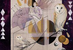 Art Noveau and owls