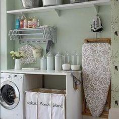 beautifully organized laundry room