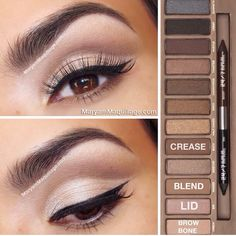 Natural eye using the urban decay naked palette