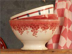 Bazaar Bijzonder Brocante servies - Franse kommen bols bowls