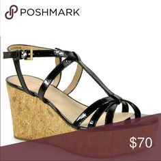 Kate Spade Tropez Wedge Perfect summer wedge that have never been worn outside. They have been kept in their original box and box can be shipped with the shoes.  If you are interested in the item, I am also willing to accept any lower offers. kate spade Shoes Wedges