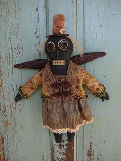 Halloween Folk Art Cloth Doll Primitive Doll by tatteredmoon