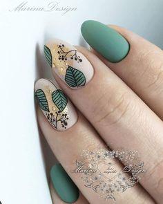 Boho nails & boho ngel & clous boho & uas boho & boho fashion, boho h . - Boho nails & boho nägel & clous boho & uñas boho & boho fashion, boho home, boho bedroom, - Green Nail Designs, Fall Nail Designs, Hair And Nails, My Nails, Nagellack Trends, Autumn Nails, Stylish Nails, Nail Decorations, Flower Nails