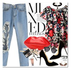 """""""Mixed Feelings"""" by oshint ❤ liked on Polyvore featuring Borghese, Urban Decay, Christian Dior and Marni"""