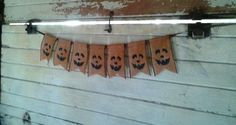 Rustic Halloween Pumpkin Banner by ThisandThatCrafter on Etsy